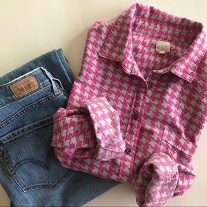 💕J Crew button down light flannel Size Medium